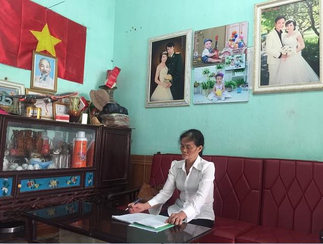 Bà Hòa - Chi hội Trưởng nông dân  pố Tân Tiến, TT Nho Quan